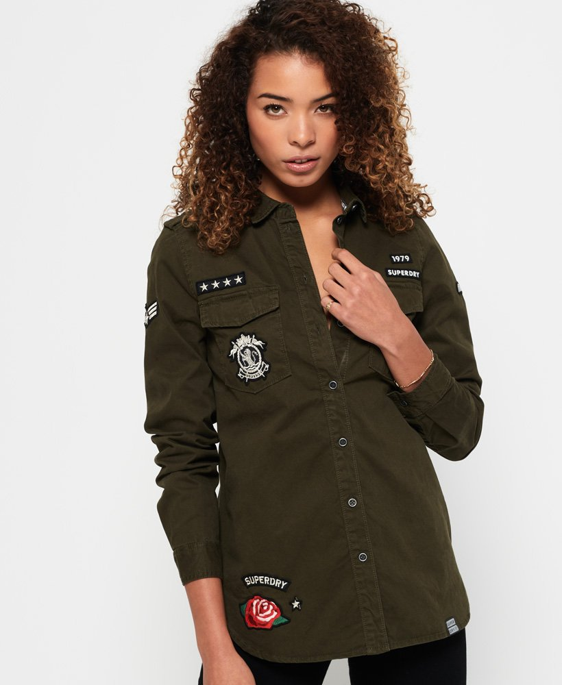 bajo costo 18878 f5772 Superdry Camisa militar - Camisas para Mujer