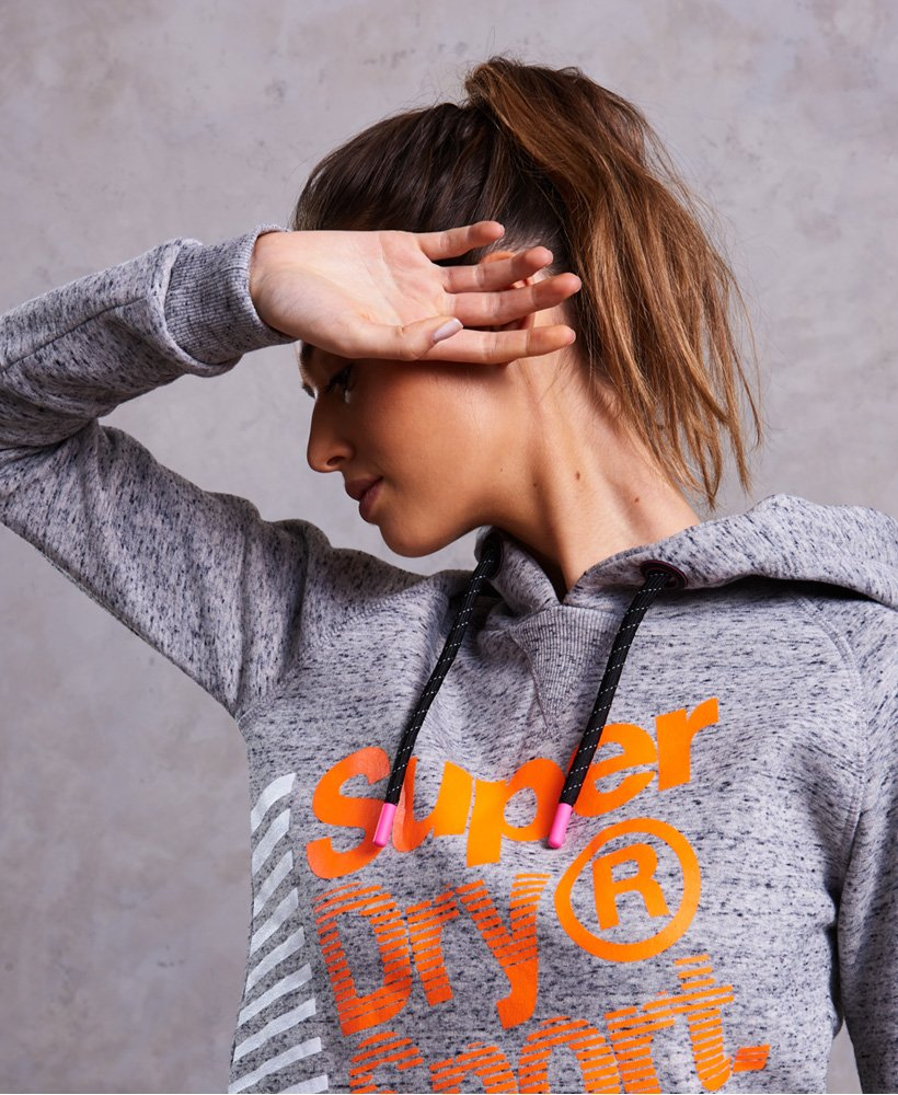 Superdry Sport Label Diagonal Hoodie Damen Hoodies
