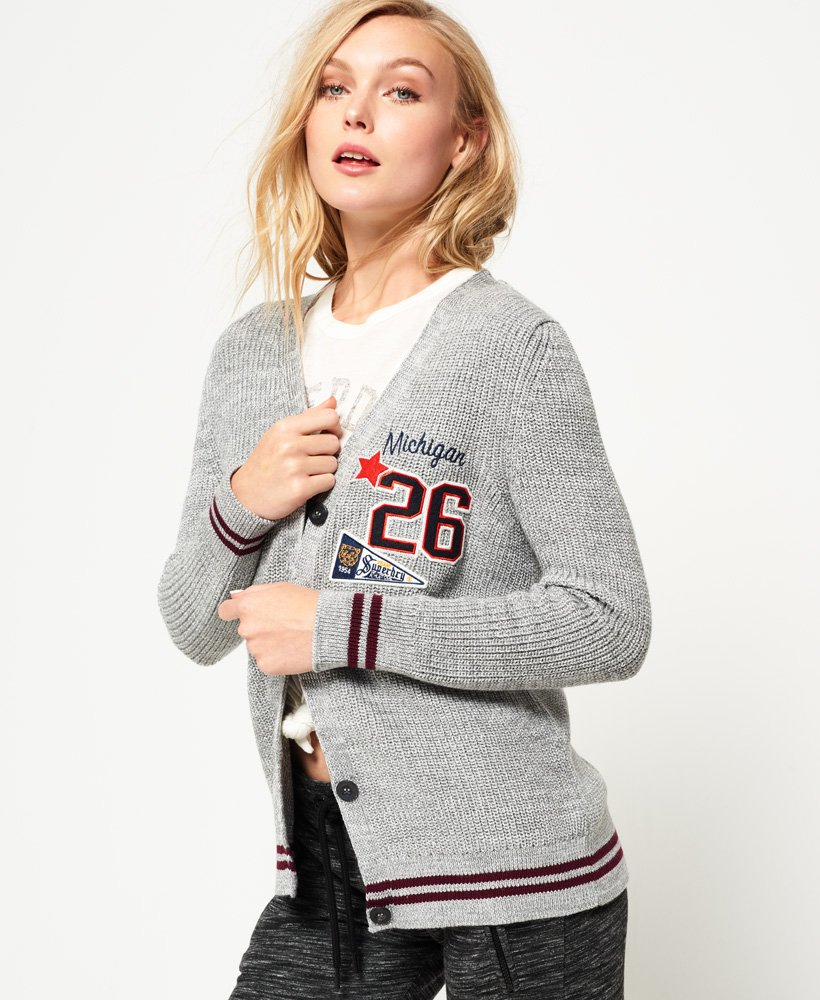 Superdry Ivy Patched Cardigan  thumbnail 1