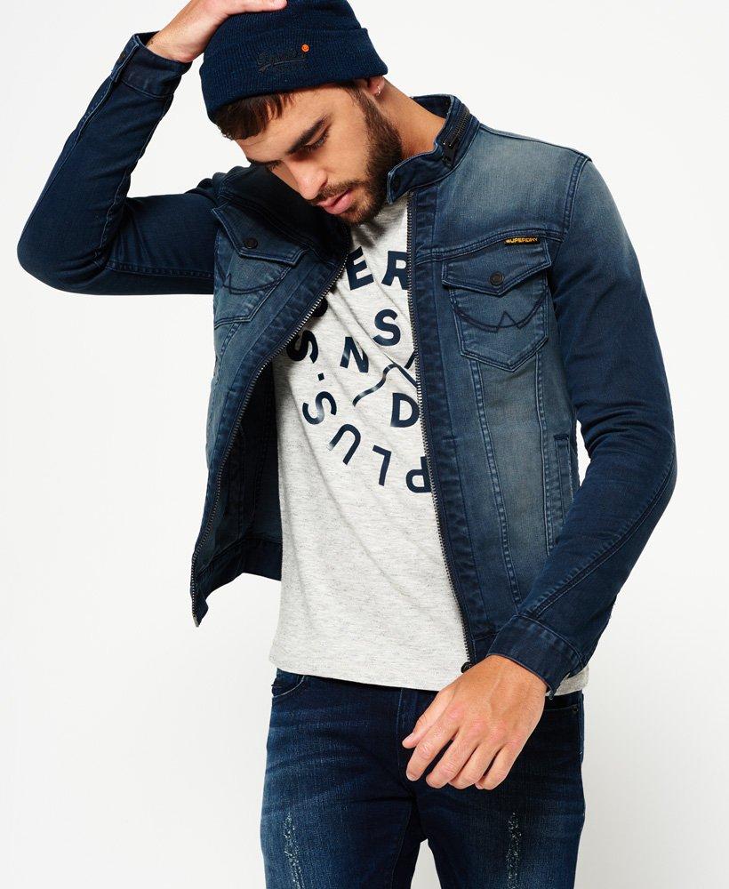 veste en jean avec capuche homme superdry