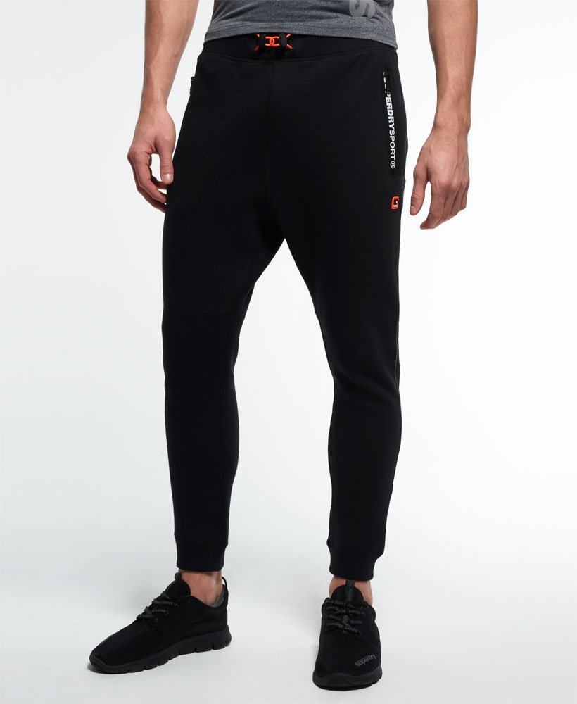 bc557aad9bb3b8 Mens - Gym Tech Slim Joggers in Black | Superdry