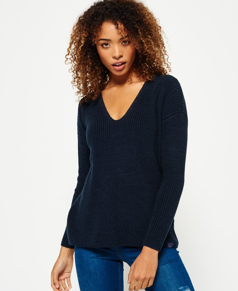 Superdry Almeta V-Neck Knit Jumper thumbnail 1