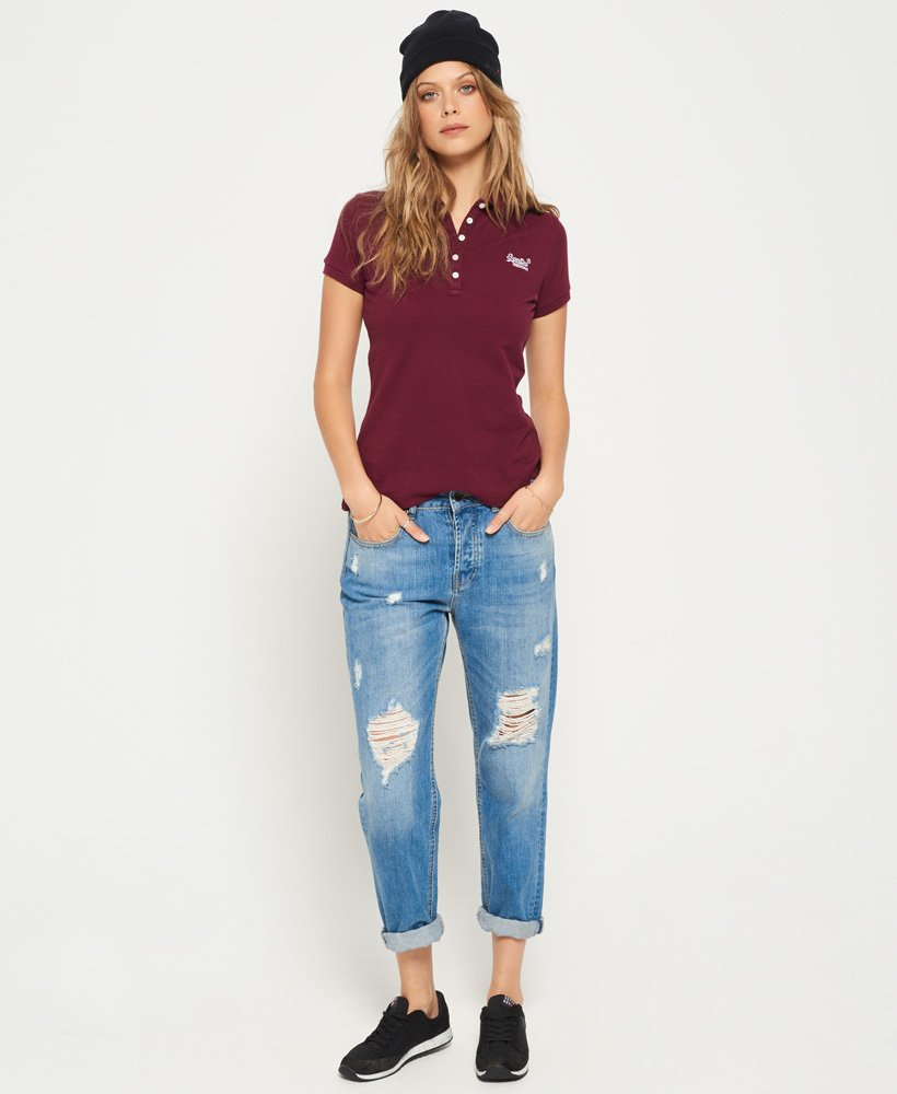Superdry Pique Polo Shirt Womens Tops