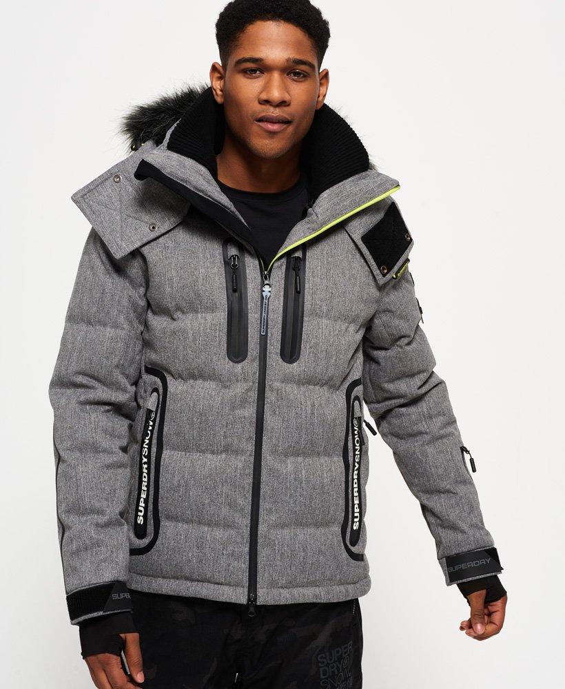 Mens Superdry Snow Black Ski Jacket Black
