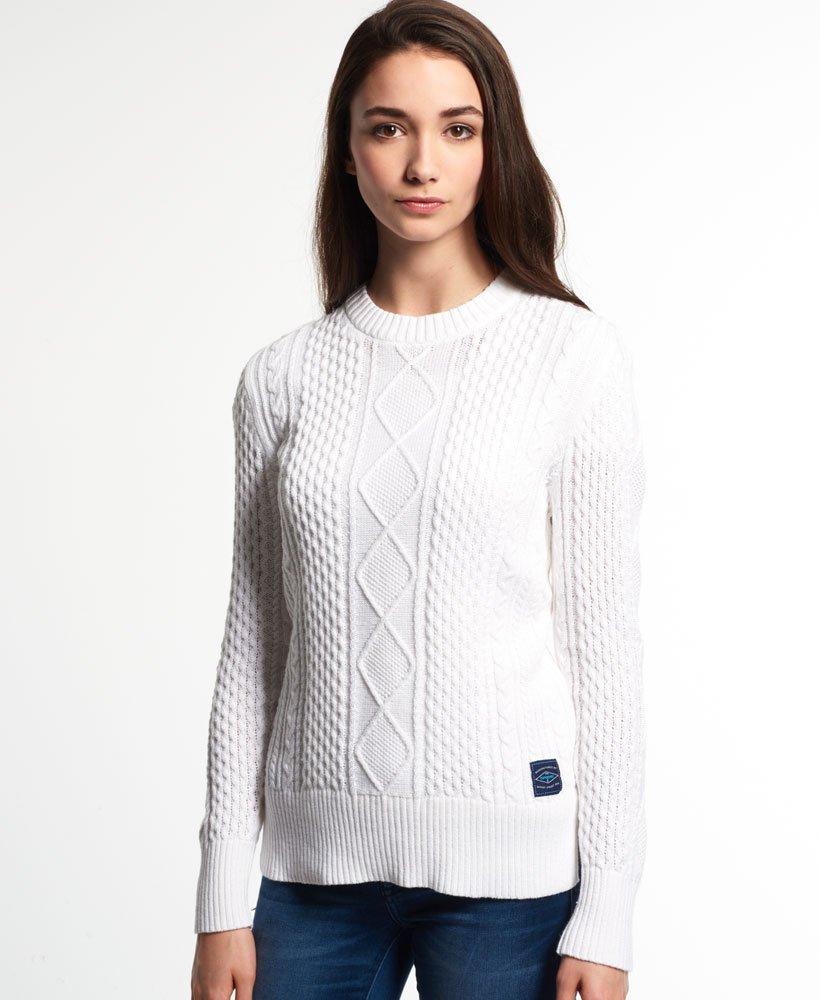 designer fashion 37d5d 59ee6 Maglione a trecce Saunton da Donna Superdry