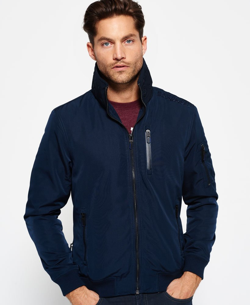 Mens Moody Nite Flite Lite Jacket in Ink | Superdry