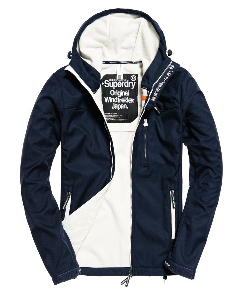 best online exquisite craftsmanship elegant shape Mens - Hooded SD-Windtrekker Jacket in Eclipse Navy / Ecru ...
