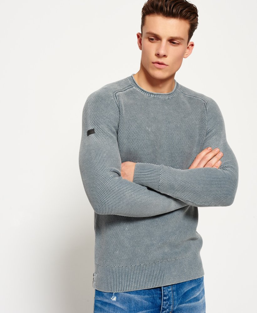 Superdry Garment Dyed L.A. Textured Jumper thumbnail 1