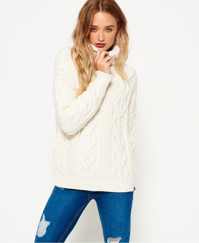 Superdry Esmay Cable Knit Jumper thumbnail 1