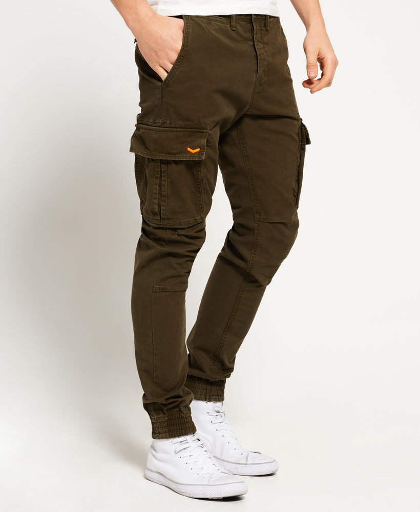 Mens - Rookie Grip Cargo Pants in Chopper Green | Superdry