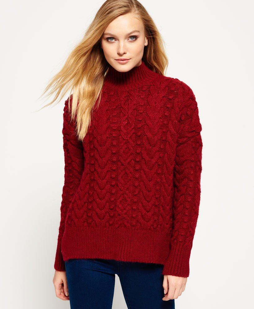 Superdry Kiki Cable Knit Jumper thumbnail 1