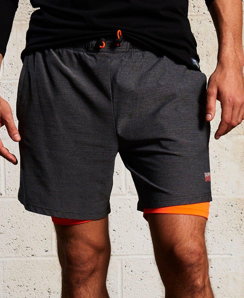 rivenditore di vendita 9229b 022ee Pantaloncini elasticizzati a doppio strato Sport Athletic da ...