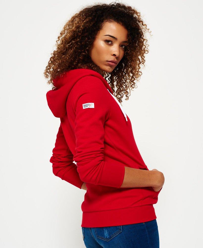 Superdry LA Athletic hættetrøje med lynlås Damer Hættetrøjer