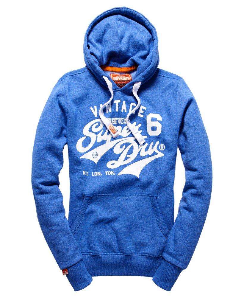 Superdry Herren Klassischer Pullover Hoodie Blau
