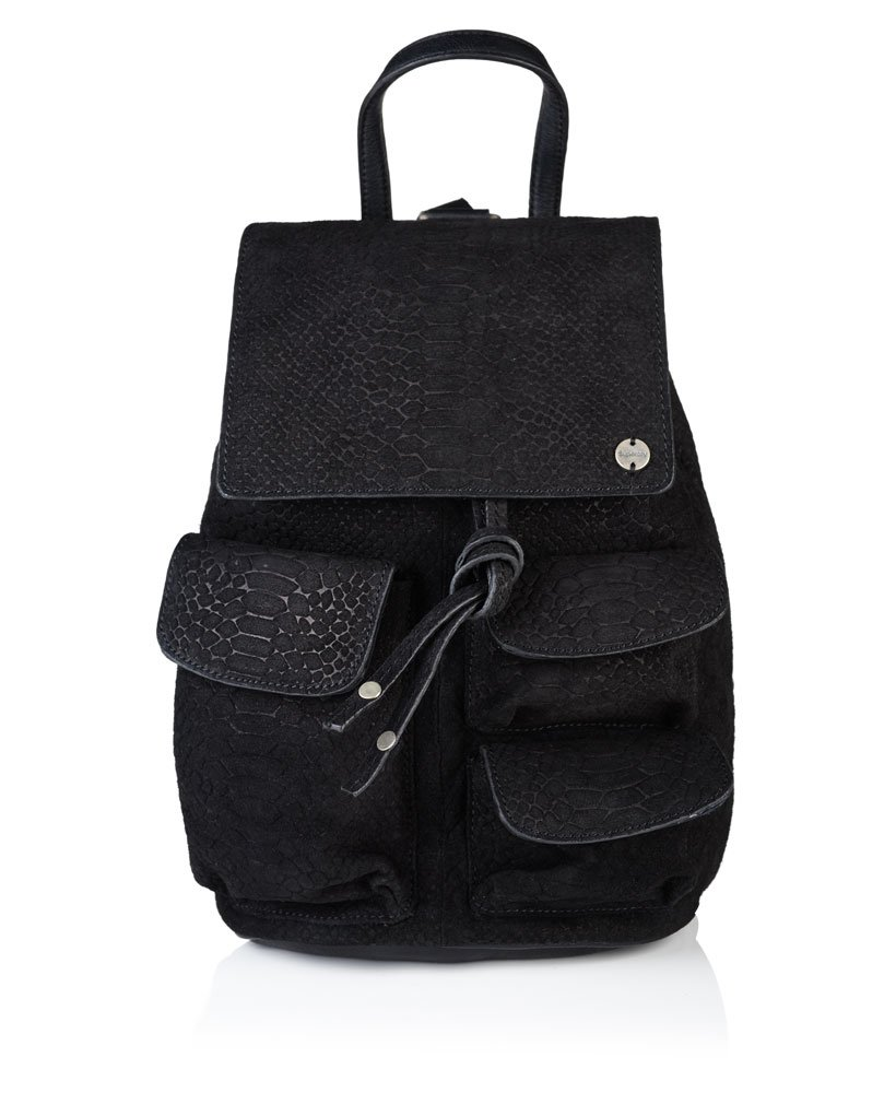 Womens - The Anneka Snake Backpack In Black