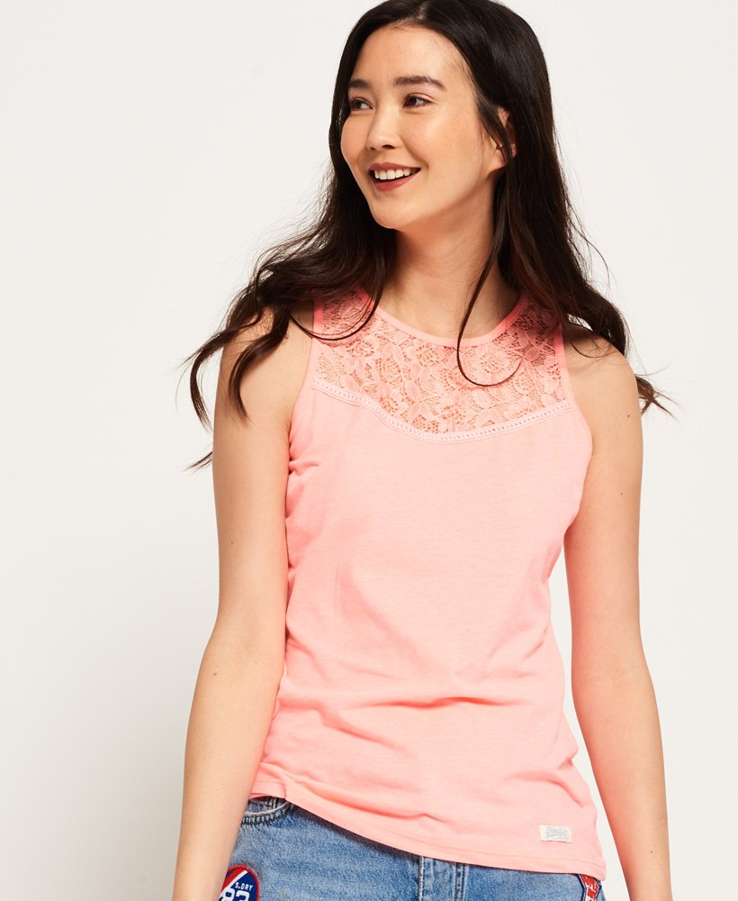 Superdry Ivy Lace Vest Top thumbnail 1