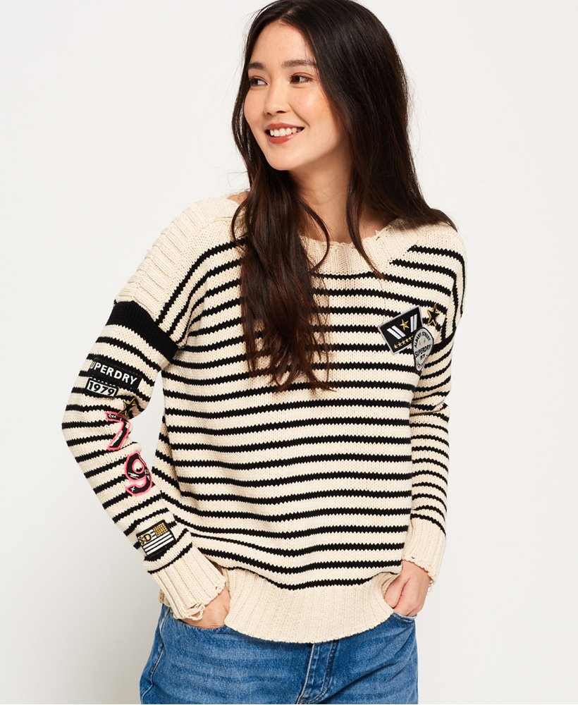 Superdry Anya Badged Jumper thumbnail 1