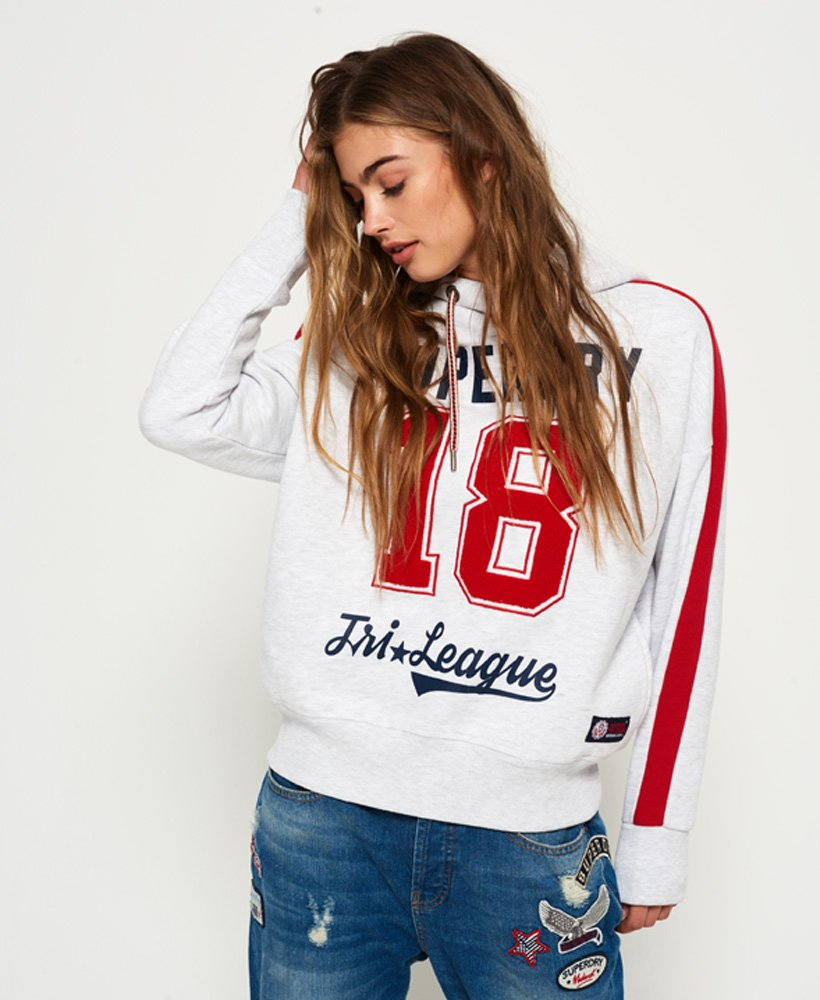 Superdry Womens Tri League Slouch Hoodie Size