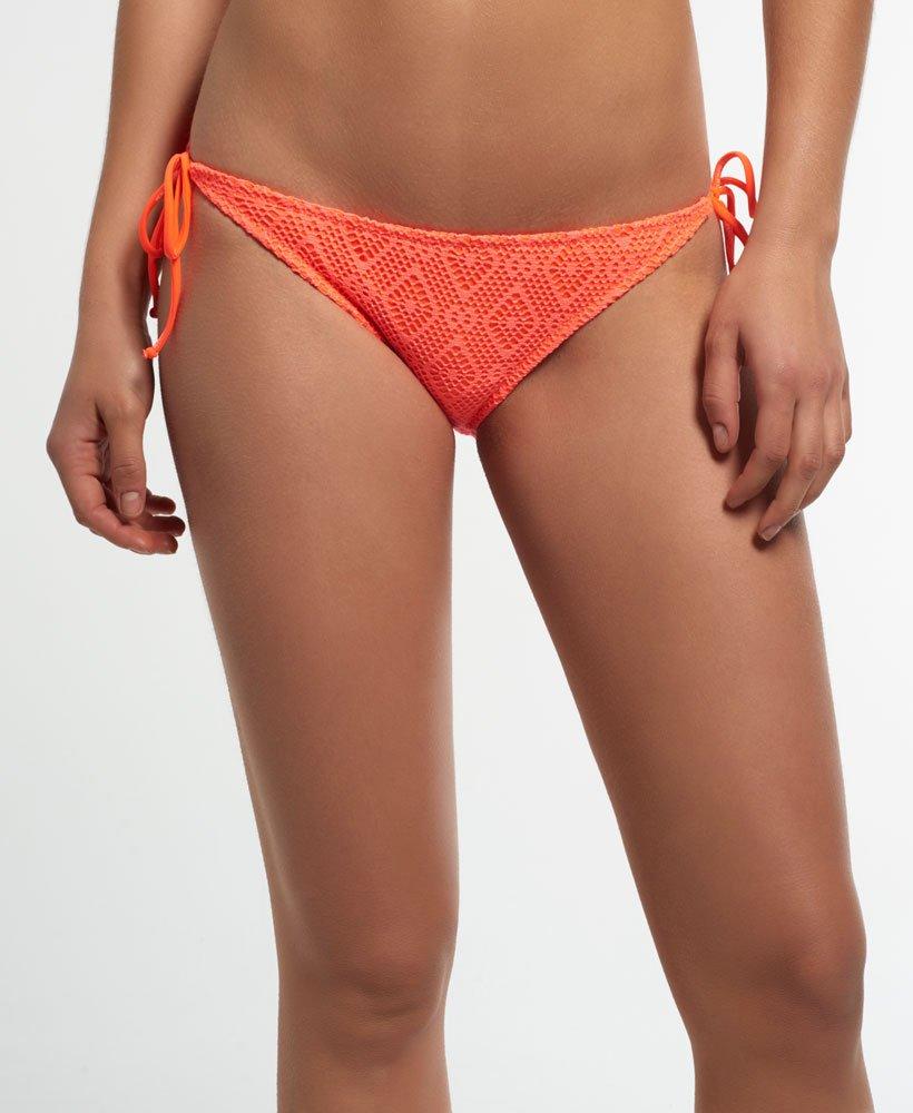 Superdry Braguita de bikini con encaje a rombos