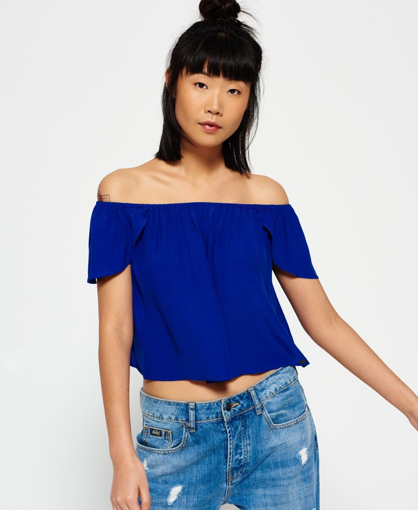 superdry femme blouse bleu