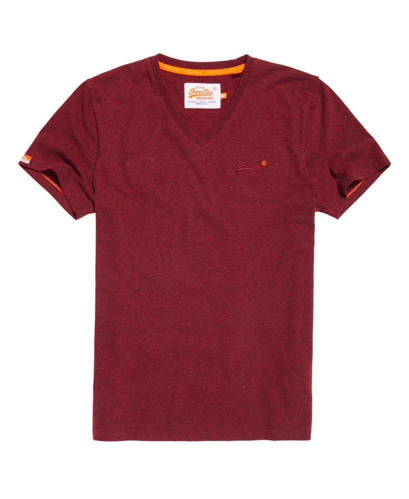 Superdry Herren Vintage Stickerei T-Shirt rot