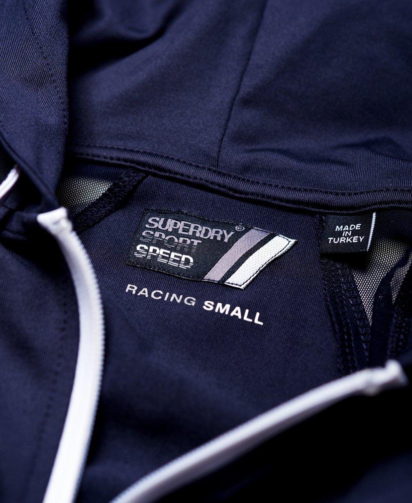 Superdry Sweat À Capuche Zippé Sport Super Speed Marine
