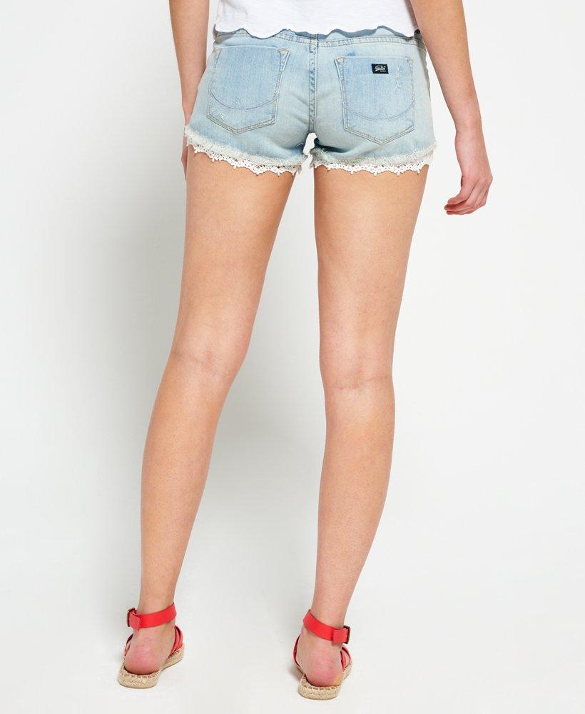 Superdry Lace Hot Short Pantalones Cortos para Mujer