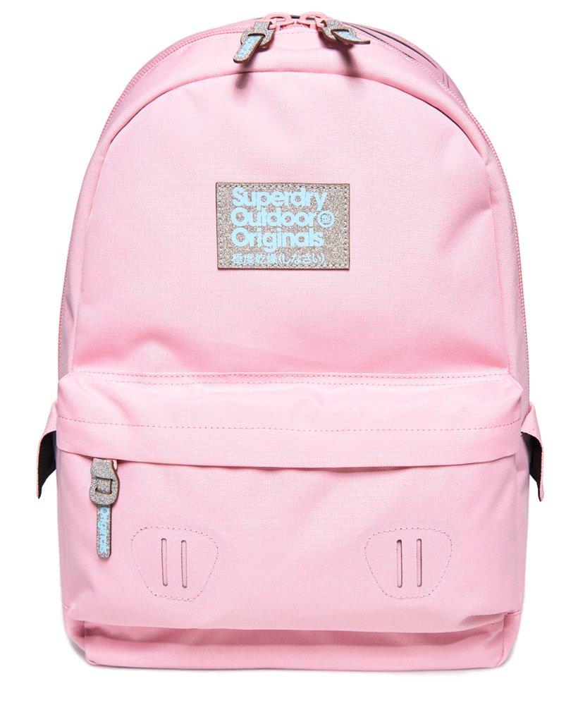 pink glitter superdry bag