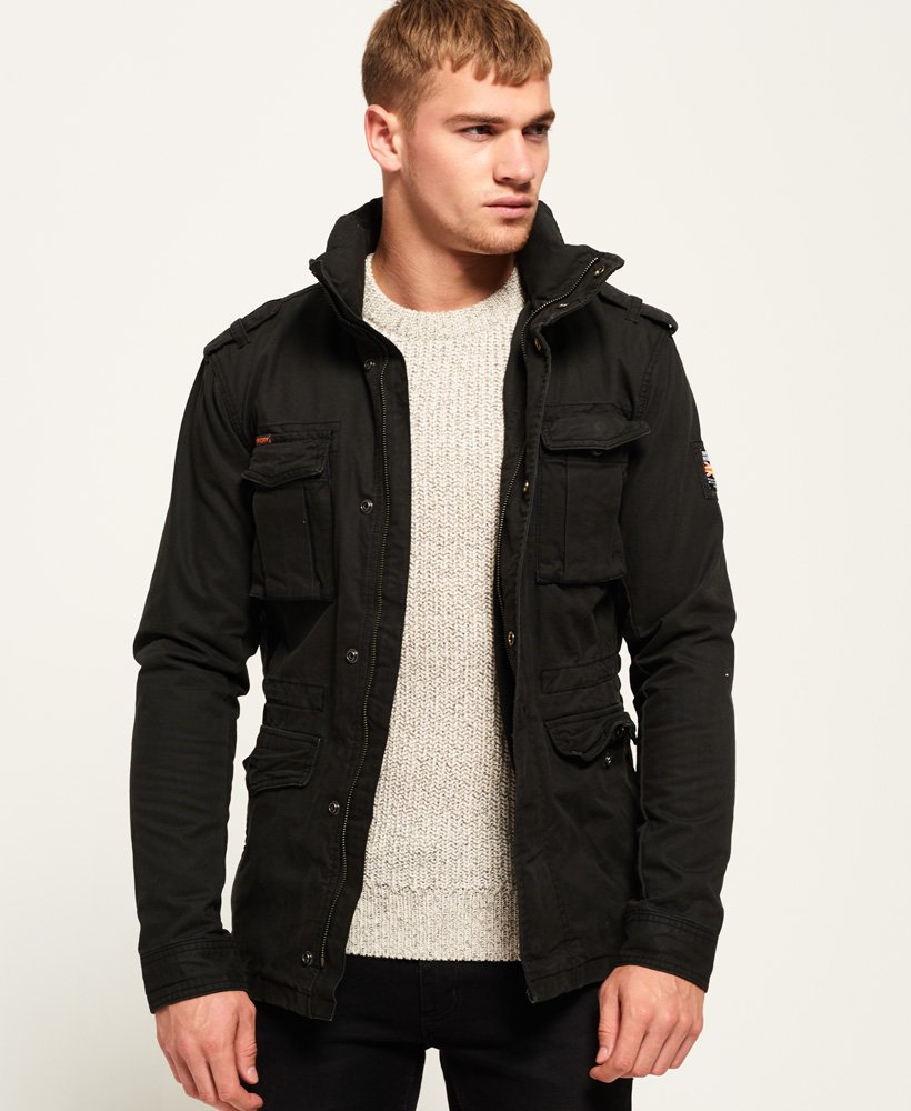 Rookie Heavy Weather Field Jacket In Bitter Black