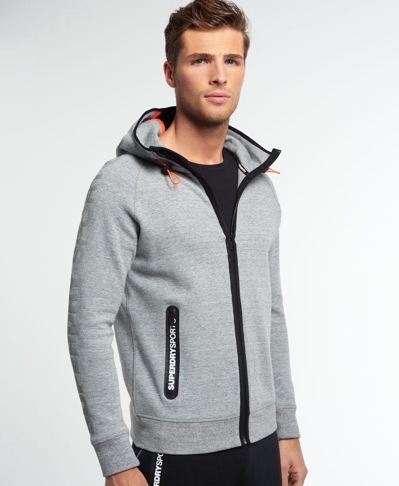 5d8d563a Superdry Sport Gym Tech Zip Hoodie - Men's Hoodies