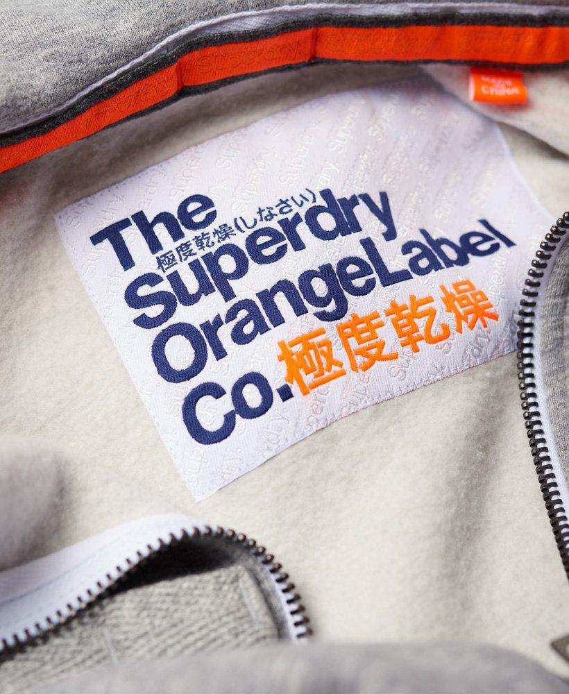 Orange Label Hoodie in Iced Grey Grit