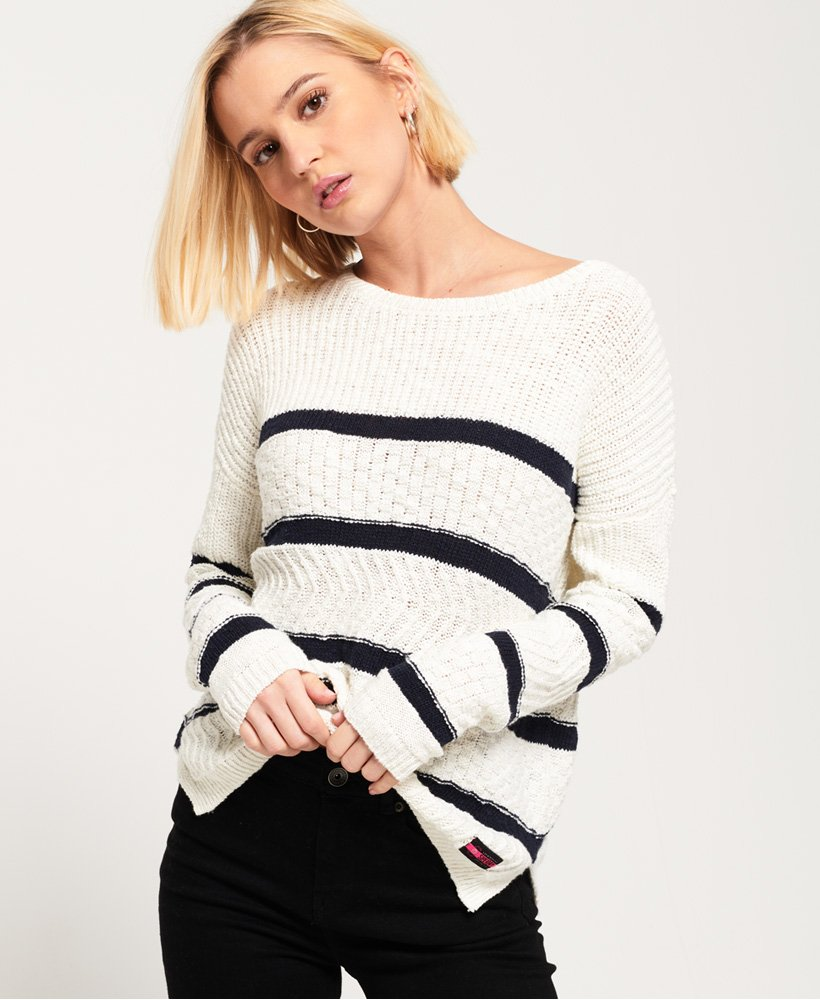 Superdry Atlantic Stripe Rib Knit Jumper thumbnail 1