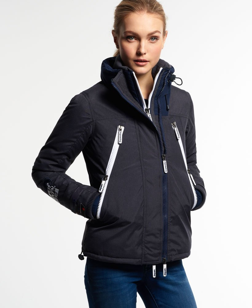 Details about  /Superdry navy blue ski jacket dark rider snow women marl size m l show original title