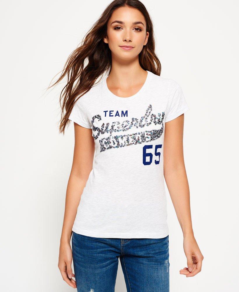 Superdry Sequin Team Comets T-shirt - Women s T Shirts 0a44507cb7a