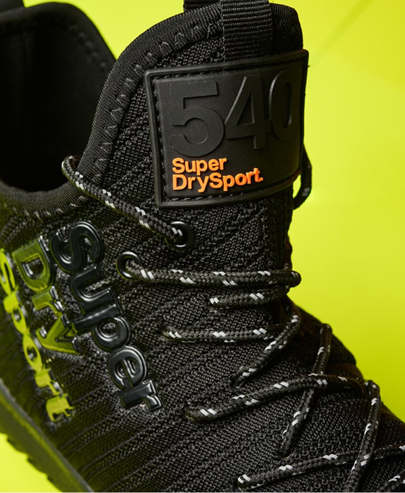 Mens - Hybrid High Trainers in Black