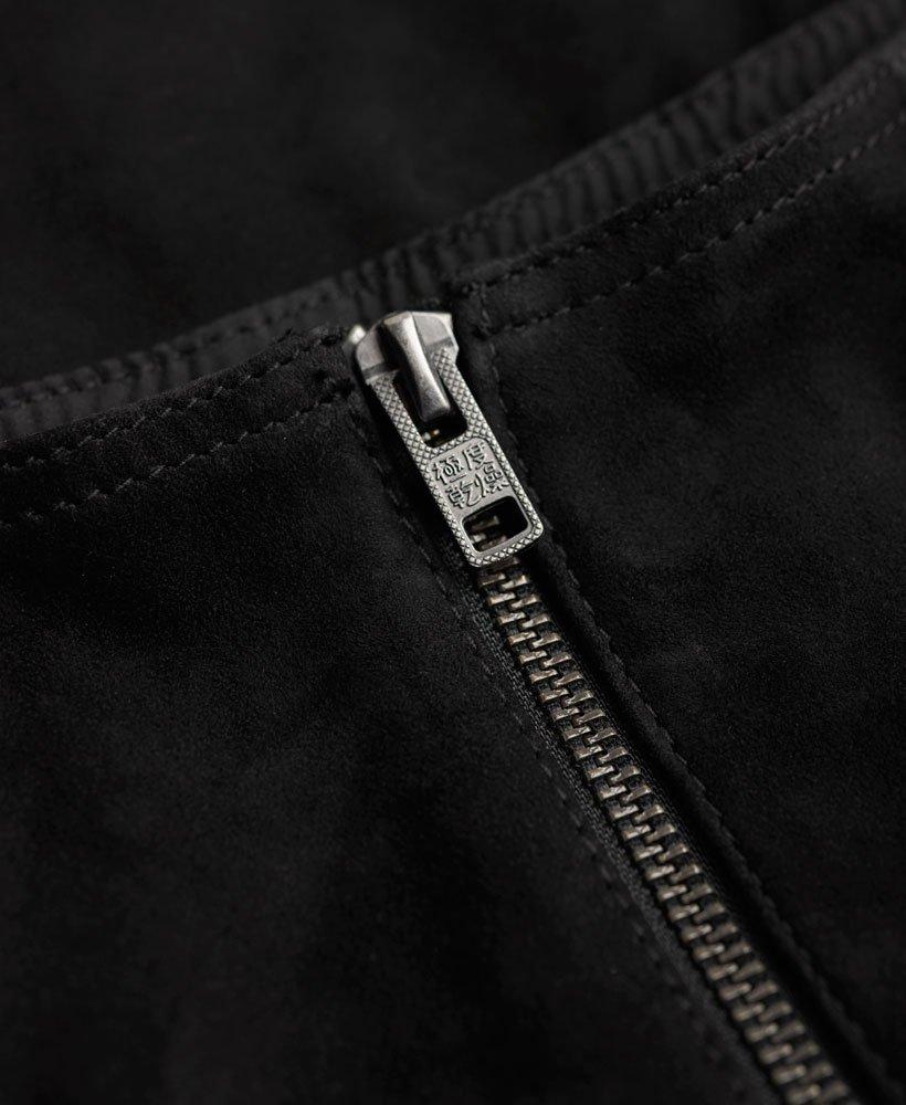 97f23c7bd315 Superdry Premium Billie Wildlederrock mit Taschen - Damen Röcke