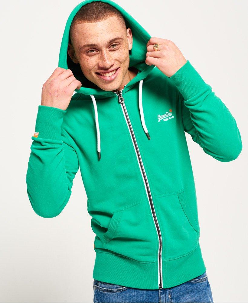 Mens Orange Label Lite Zip Hoodie in Bright State Green