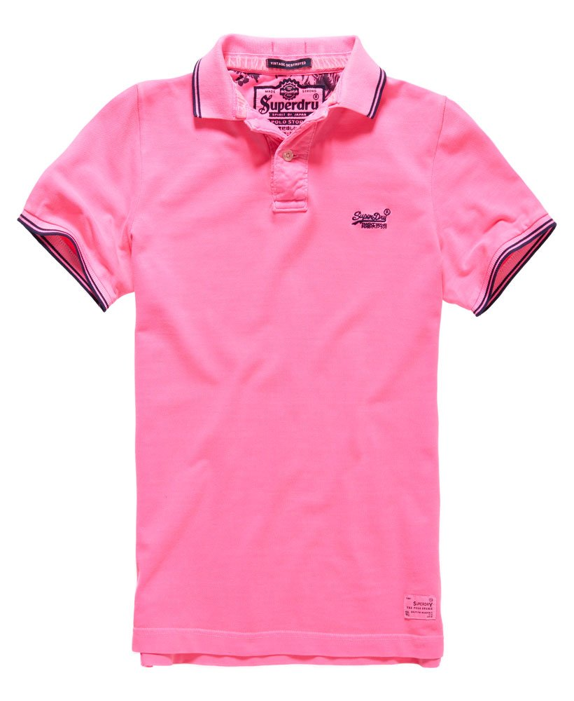 Superdry Vintage Destroyed Tipped Polo Shirt Mens Polo Shirts