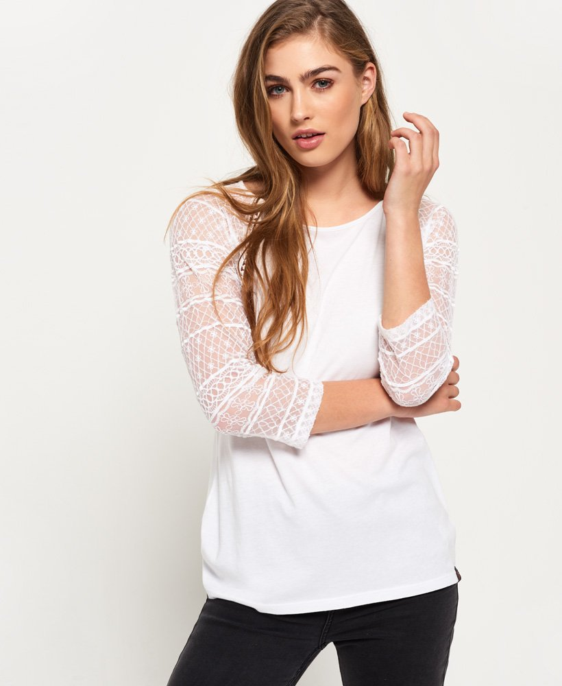Superdry Embroidered Raglan Top thumbnail 1