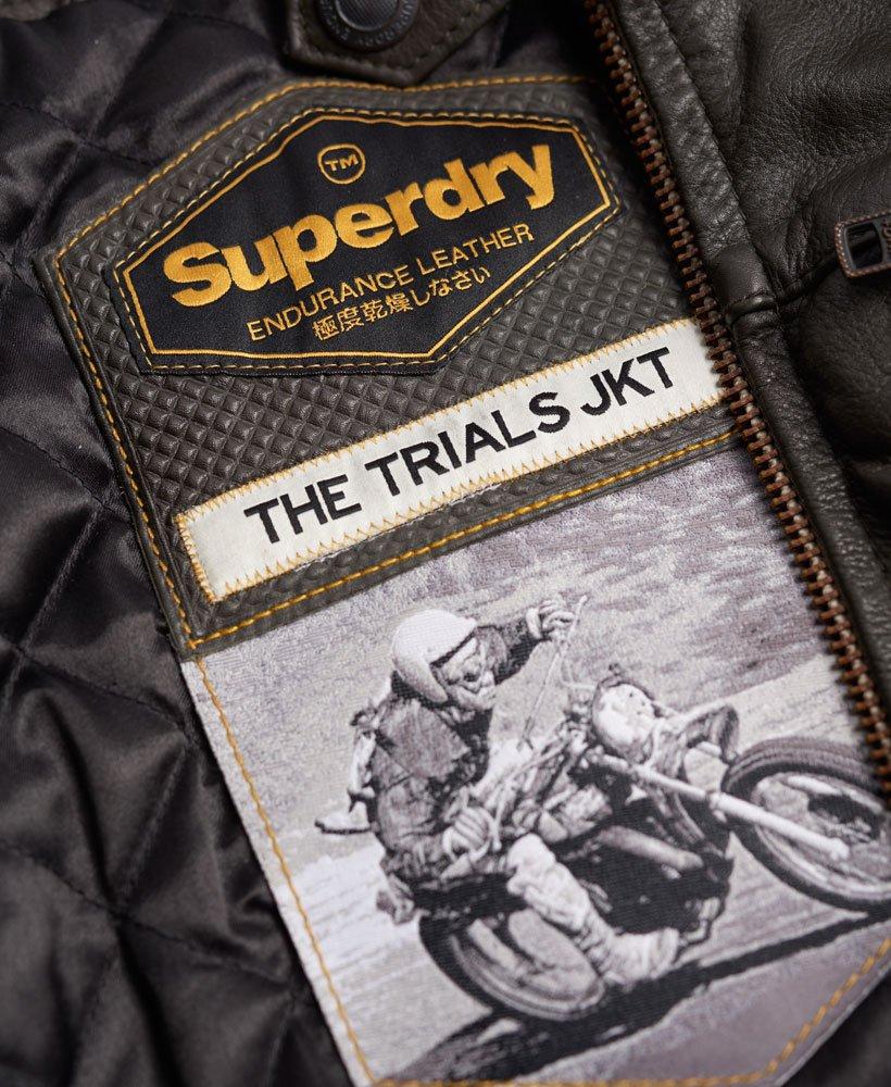 Veste en cuir real trials superdry