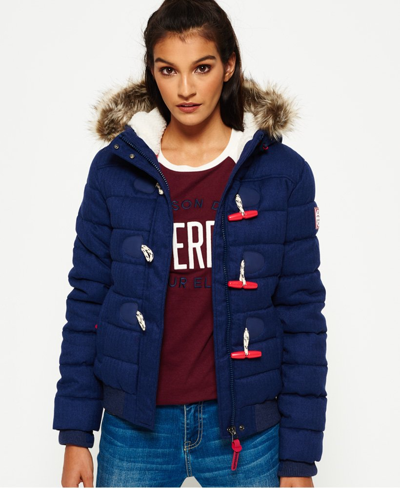 Superdry Veste Marl Toggle Puffle thumbnail 1