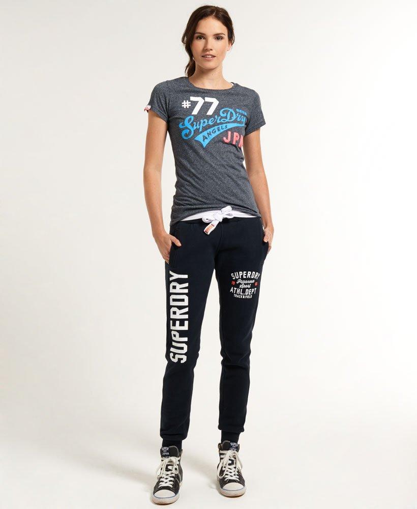 Superdry Pantalon de Sport en Maille pour Femme