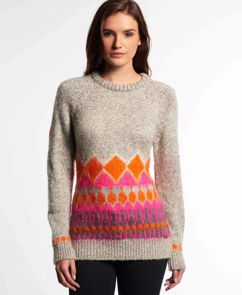 Superdry Ombre Brushed Fairisle Knit
