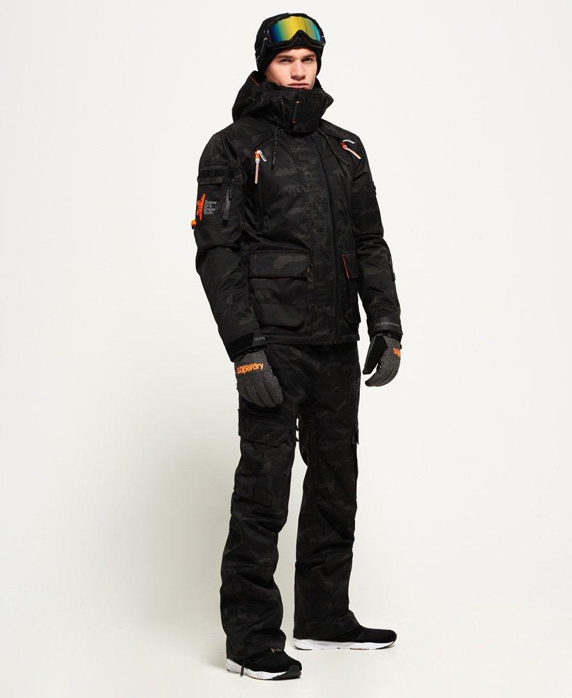 Mens Ultimate Snow Rescue Jacket In Shadow Camo Superdry