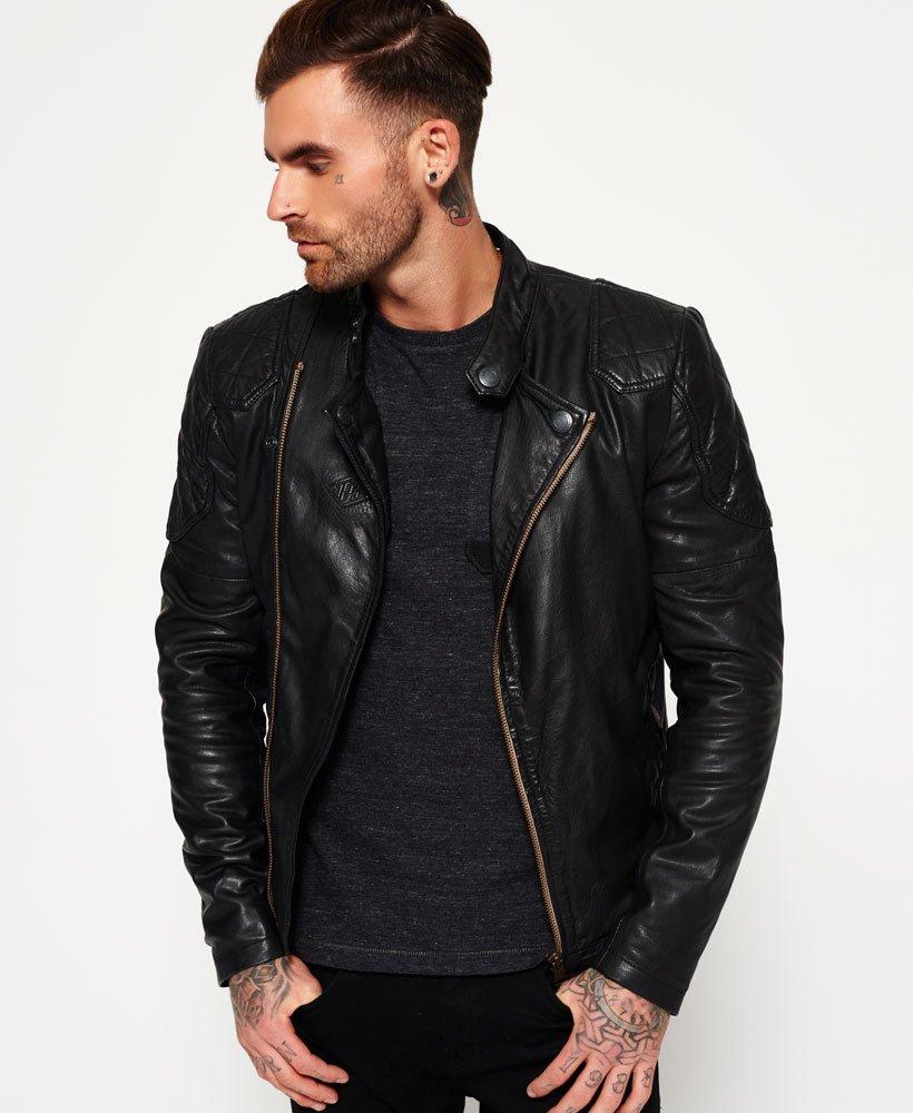 half price price reduced big sale Superdry Endurance Indy Leather Jacket - Men's Jackets