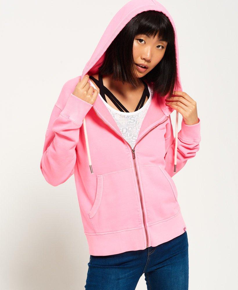 Superdry Garment Dyed Zip Hoodie 0