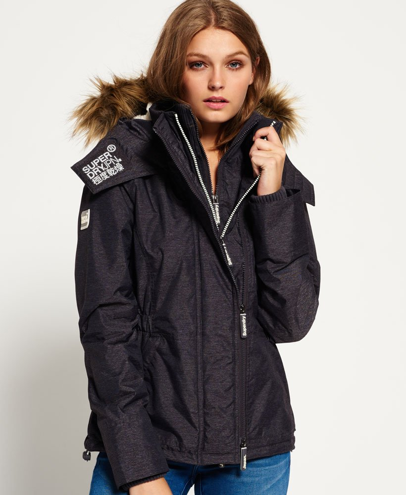 superdry wind attacker jacke mit sherpa-kapuze
