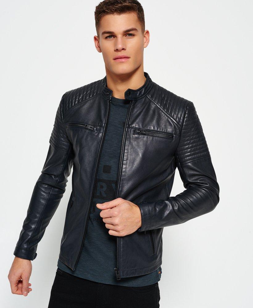 quality design 7421c a4ef0 Superdry Leather Quilt Racer Jacke - Herren Jacken & Mäntel