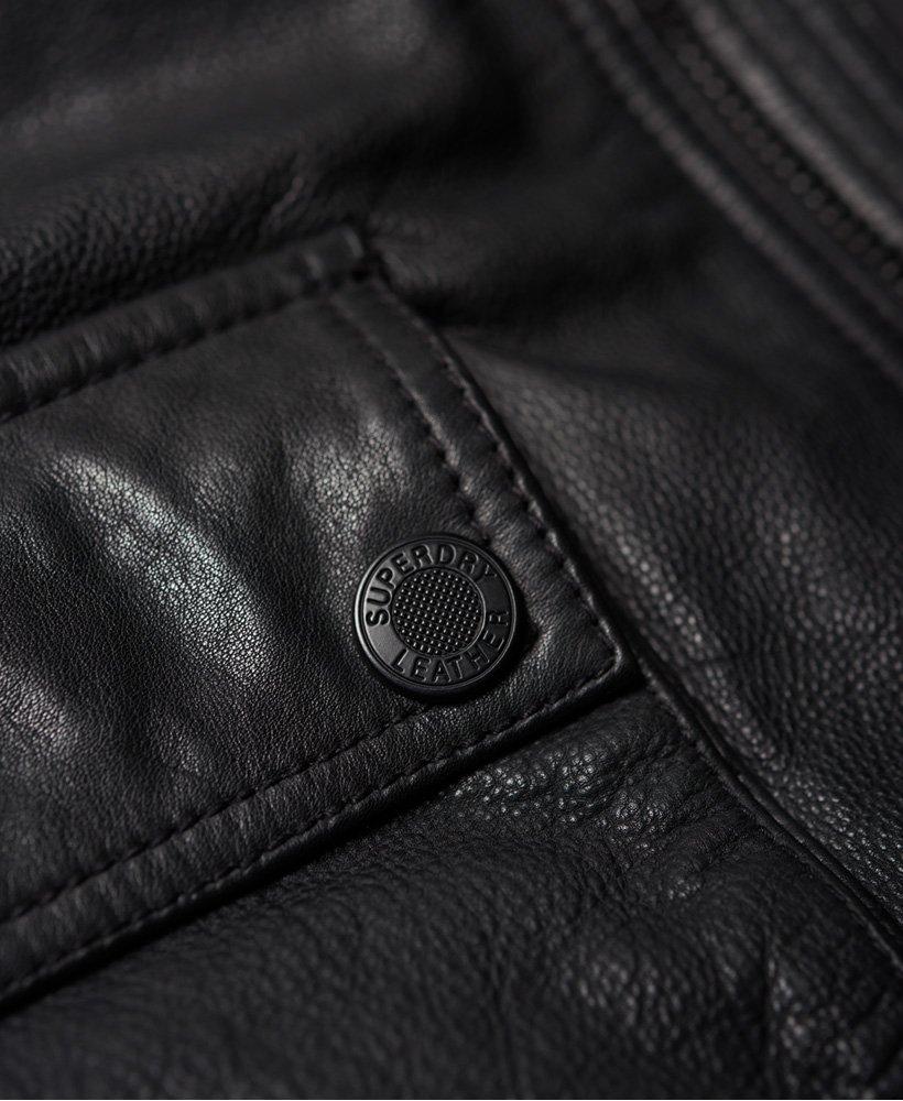 Superdry Leather Rotor jakke Herre Skinn