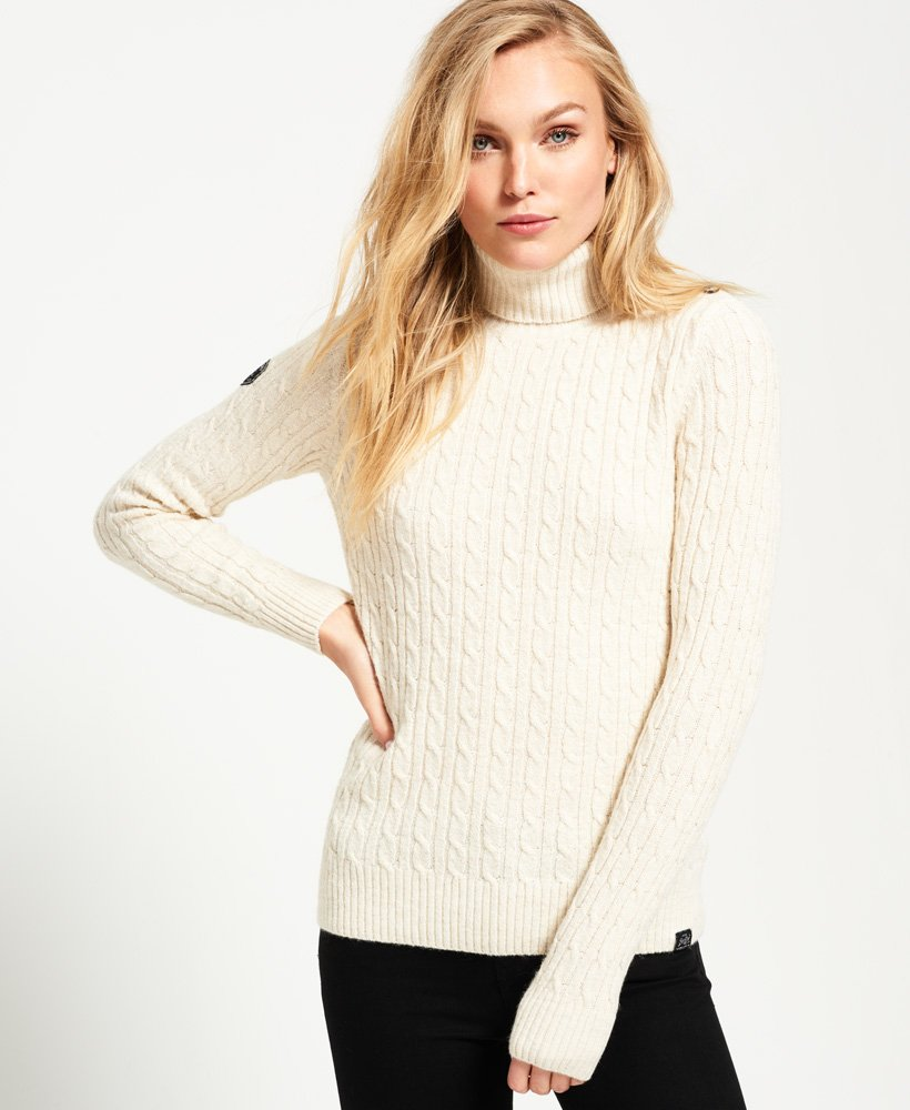 Superdry Croyde Roll Neck Knit Jumper thumbnail 1